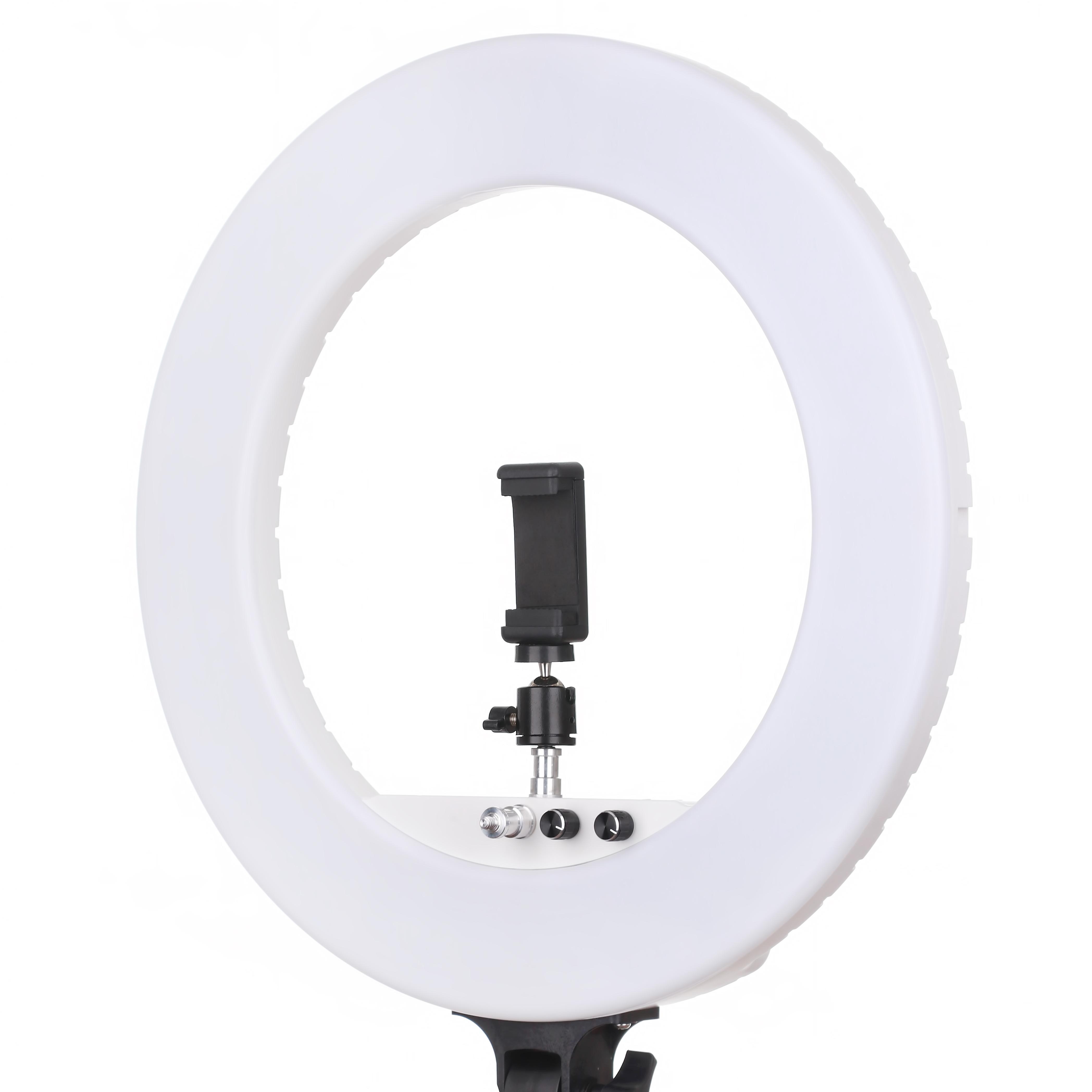 Профессиональная кольцевая лампа LUMO™ LF R-580   100 Ватт   диаметром 45 см. для фото, видеосъемки, блогеров, визажиста купить недорого в Украине (Киеве)
