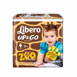 5ab18338e788 Подгузники-трусики детские Libero Up Go 4 7-11 кг 18 шт 7322540599947