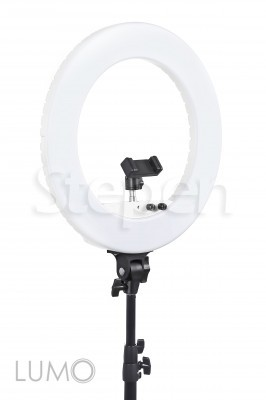Кольцевая светодиодная лампа LUMO™ LF R-480 | 100 Ватт | диаметром 45 см. для фото, видеосъемки, блогеров, визажиста купить недорого в Украине, Киеве, Харькове, Днепре, Одессе