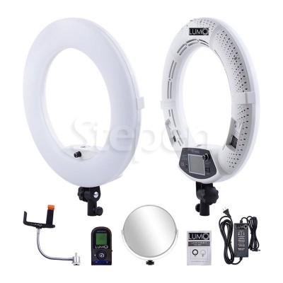 Большие напольные кольцевые лампы LUMO LUX™ | 96 Ватт | диаметром 45 см. с держателем для телефона купить недорого в Украине (Одессе)