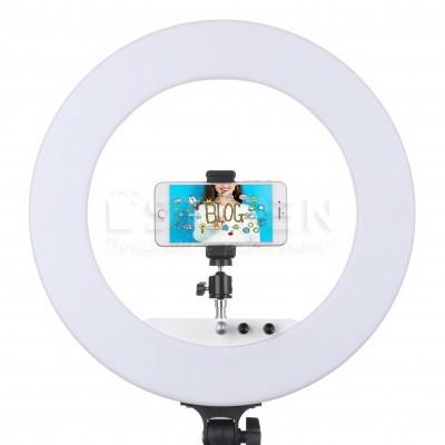 Профессиональная кольцевая лампа LUMO™ LF R-580 | 100 Ватт | диаметром 45 см. для фото, видеосъемки, блогеров, визажиста купить недорого в Украине (Киеве)